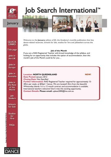 Welcome to the September edition of JSI; the Academy's monthly ...