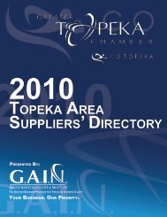 Download the Topeka Area Suppliers Directory [PDF]