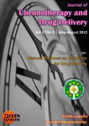 Journal of Chronotherapy and Drug Delivery, Vol. 1
