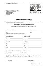 Beitrittserklärung* - Arbeitsgemeinschaft Diabetes und Sport der DDG