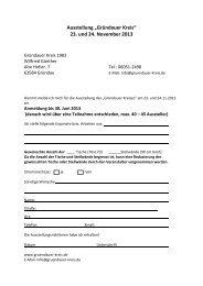"""Ausstellung """"Gründauer Kreis"""" 23. und 24. November 2013"""