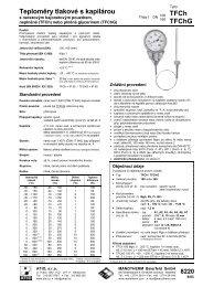 Teploměry tlakové s kapilárou TFCh TFChG - ATIO, sro