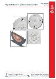 High-Soft Membran für Membran-Druckmittler