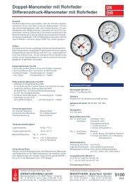 Datenblatt 5100 Doppel-Manometer / Differenzdruck-Manometer mit ...