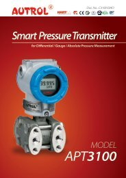 APT3100 Smart Pressure Transmitter - Measurement Resources