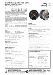 5901 - Pressure gauges and thermometers