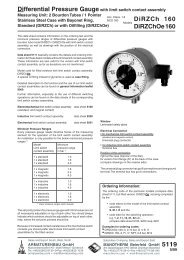 5119 - Pressure gauges and thermometers