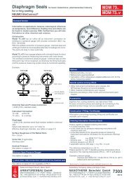 7303 eng - Pressure gauges and thermometers