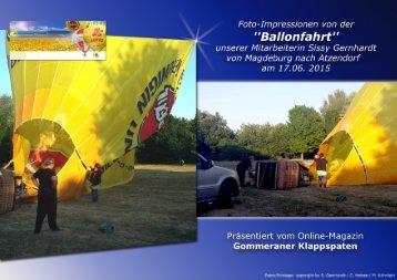 Ballonfahrt Magdeburg-Atzendorf