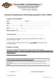 Antrag nach § 14 Abs. 4 WaffG - BDMP eV Landesverband Hamburg