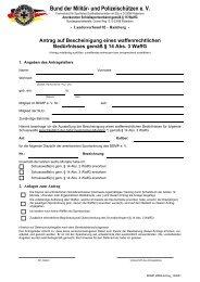 Antrag nach § 14 Abs. 3 WaffG - BDMP eV Landesverband Hamburg