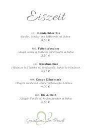 Eiskarte - Gasthaus