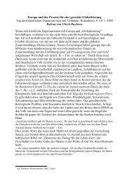 Europa und der Prozess für eine gerechte Globalisierung - ako-drs.de