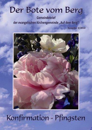 Ostern - Bote vom Berg - Evangelische Kirchengemeinde Auf dem ...