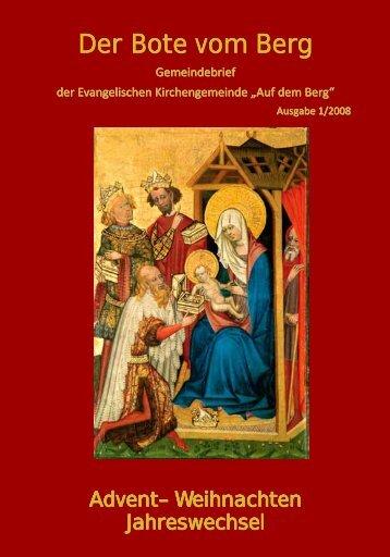 Advent - Weihnachten - Bote vom Berg - Evangelische ...