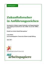 Zukunftsforscher in Anführungszeichen - JBZ-Arbeitspapiere
