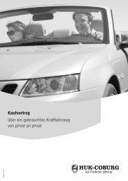 Kaufvertrag über ein gebrauchtes Kraftfahrzeug von privat an privat