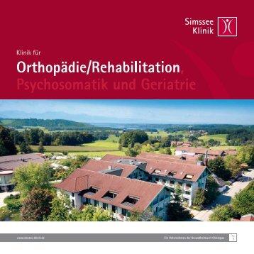 Orthopädie - Simssee Klinik