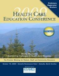 Conference Brochure - HCEA :: Health Care Education Association