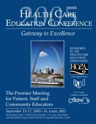 Conference Brochure - HCEA :: Health Care Education Association