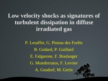 Molecule production in shocks - pcmi2012