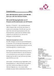 Drei LBS-Standorte sparen rund 300.000 Euro pro Jahr ... - KIS GmbH