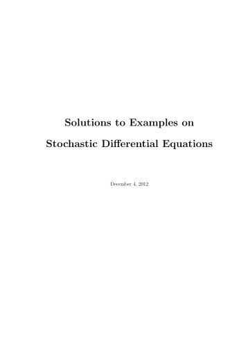 Solutions Of Stochastic Differential Equations Obeying The Law Of