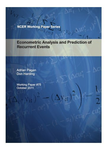 Econometric Analysis and Prediction of Recurrent Events