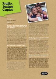 Profile: Janine Caples - IEP
