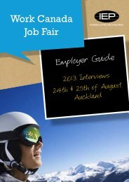 Work Canada Job Fair - IEP