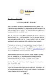 Page 1 of 4 Press Release – 5th July 2010 School song set to be a ...