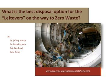 "What is the best disposal option for the ""Leftovers"" on ... - Eco-Cycle"
