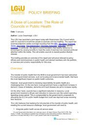 A Dose of Localism The Role of Councils in Public Health