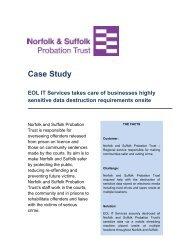 Norfolk and Suffolk Probation Trust - Onsite data destruction