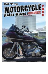 May 2011 - Motorcycle Rider News