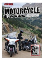 April 2010 - Motorcycle Rider News