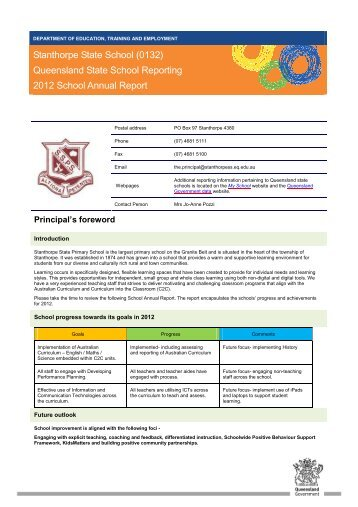 Behaviour Management Policy Our School Education Queensland