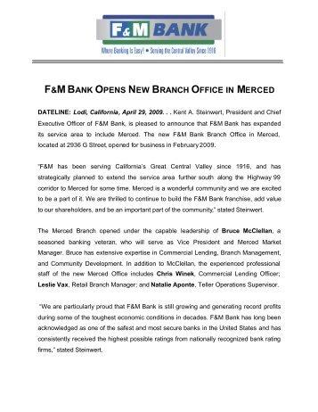 F&M Bank Opens New Branch Office in Merced - Farmers ...