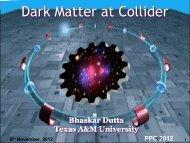 Dark Matter at Collider - KIAS