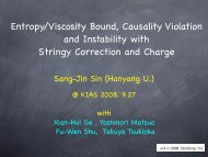 Viscosity/Entropy Bound, Casuality Violation and an Instability - KIAS