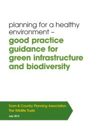 good practice guidance for green infrastructure and biodiversity