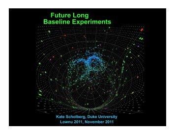 Future Long Baseline Experiments - KIAS