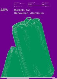 Markets for Recovered Aluminum - US Environmental Protection ...