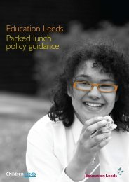Education Leeds Packed lunch policy guidance