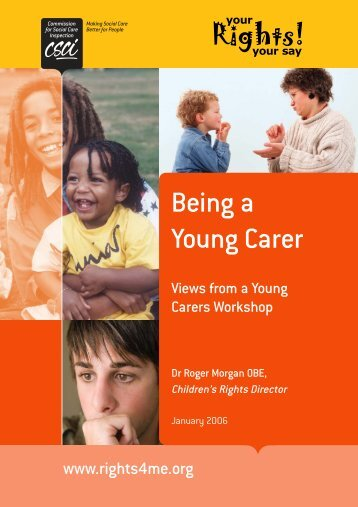 Being A Young Carer - Parental Mental Health and Child Welfare ...