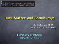 Dark Matter and Cosmic-rays - KIAS