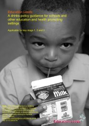 School drinks policy guidance March 2010 - Cornwall Healthy Schools