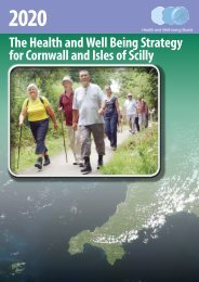 The Health and Well Being Strategy for Cornwall and Isles of Scilly