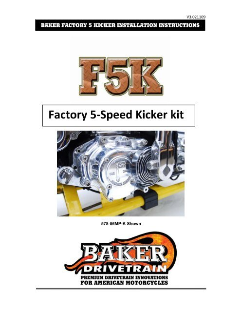 Baker Drivetrain Throw Out Bearing Kit