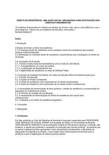 DIREITO DE RESISTÊNCIA - Empreende.org.br